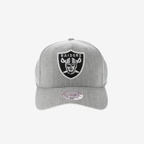 95130694836 MITCHELL   NESS OAKLAND RAIDERS PINCH 110 HIGH CROWN SNAPBACK HEATHER GREY