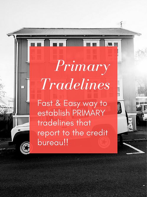 Establish Primary Tradelines