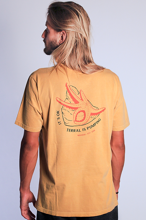 Camiseta Starfish Mostarda