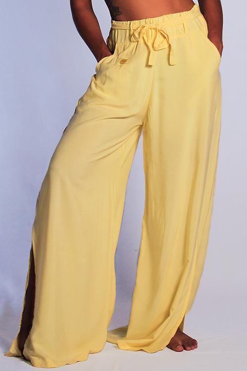 Calça Pantalona Discovery Amarela Clara