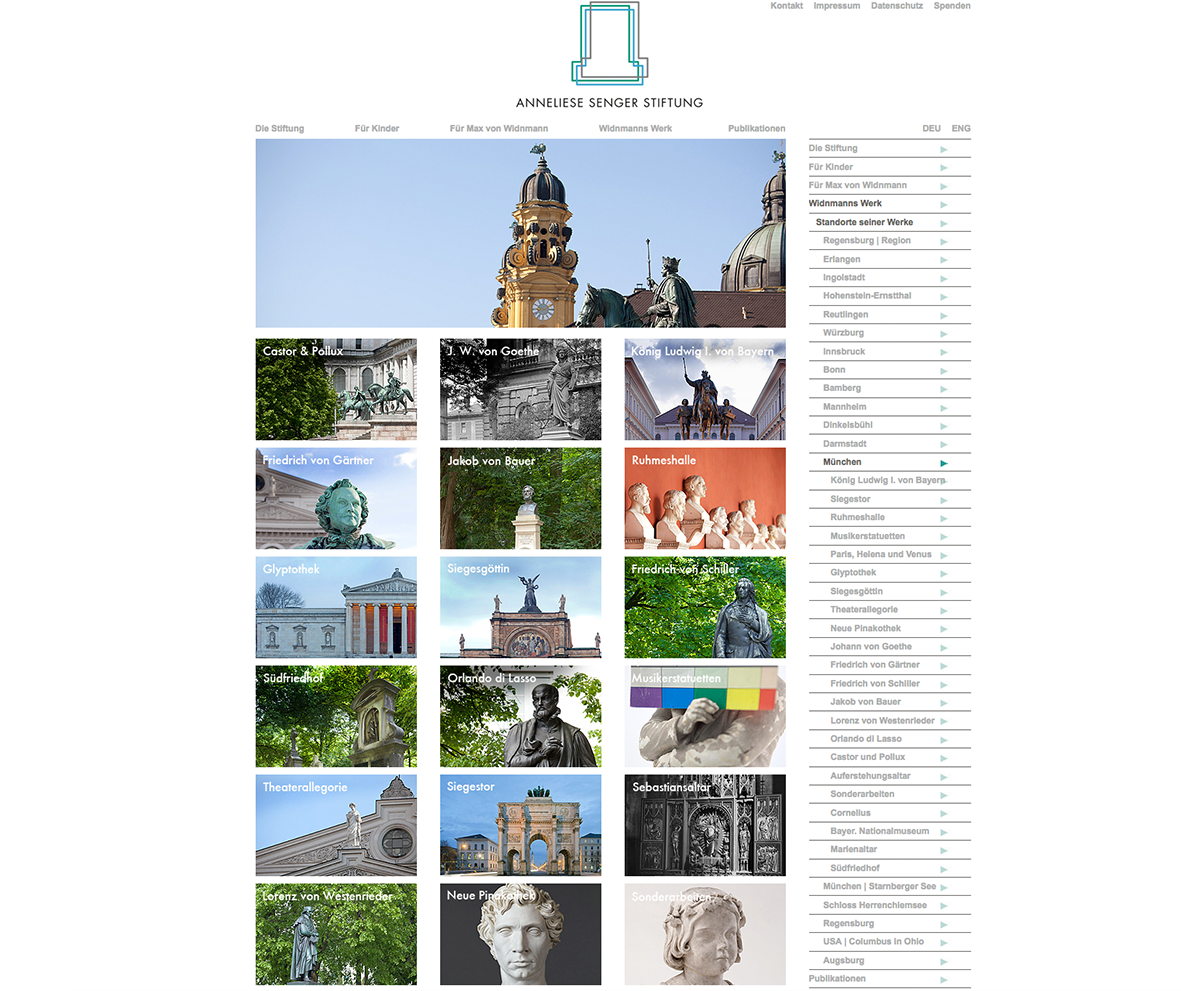 Webpage | Anneliese Senger Stiftung