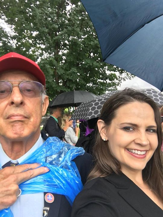 Great rain day selfie with Dick Heller