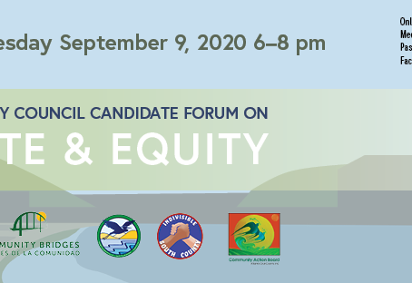 Climate and Equity Candidate Forum- Sept 9th, 2020