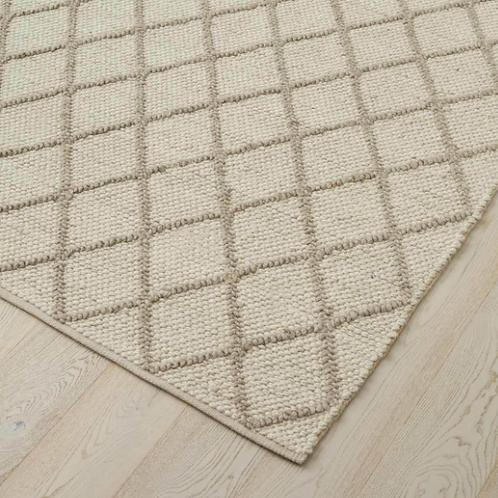 Mitre Floor Rug - Ghost