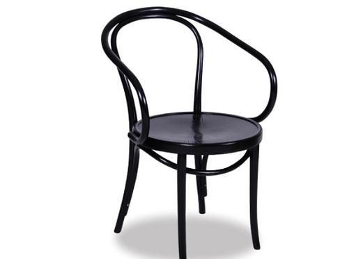 Bentwood B9 Armchair - Black