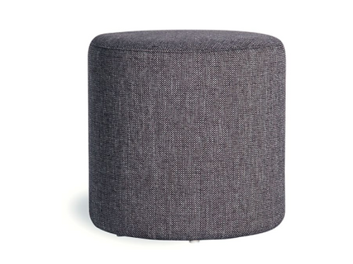 Tito Ottoman - Charcoal Fabric