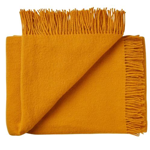 Nevis Throw Rug - Saffron