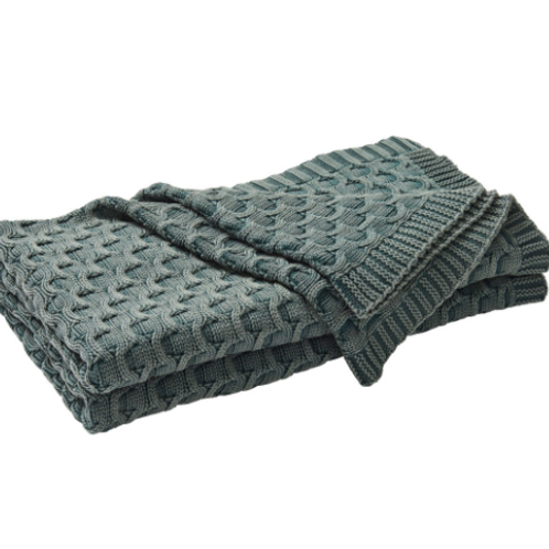 Delaney Throw Blanket - Ivy Green