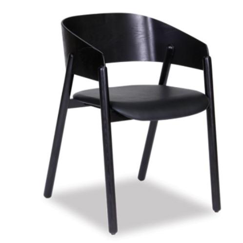 Sargood Arm Chair - Black - Black Pad