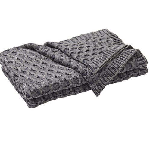 Delaney Throw - Monument Grey Throw Rug
