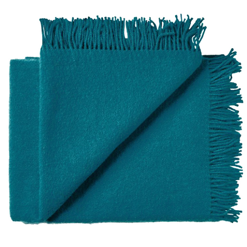 Nevis Throw Rug - Turquoise