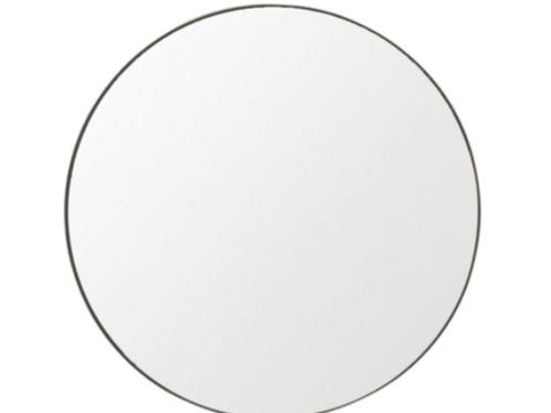 Flynn Round Mirror- Black