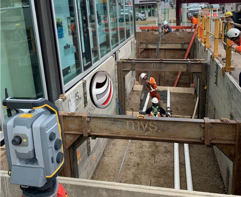 Global Raymac construction surveying cement pour