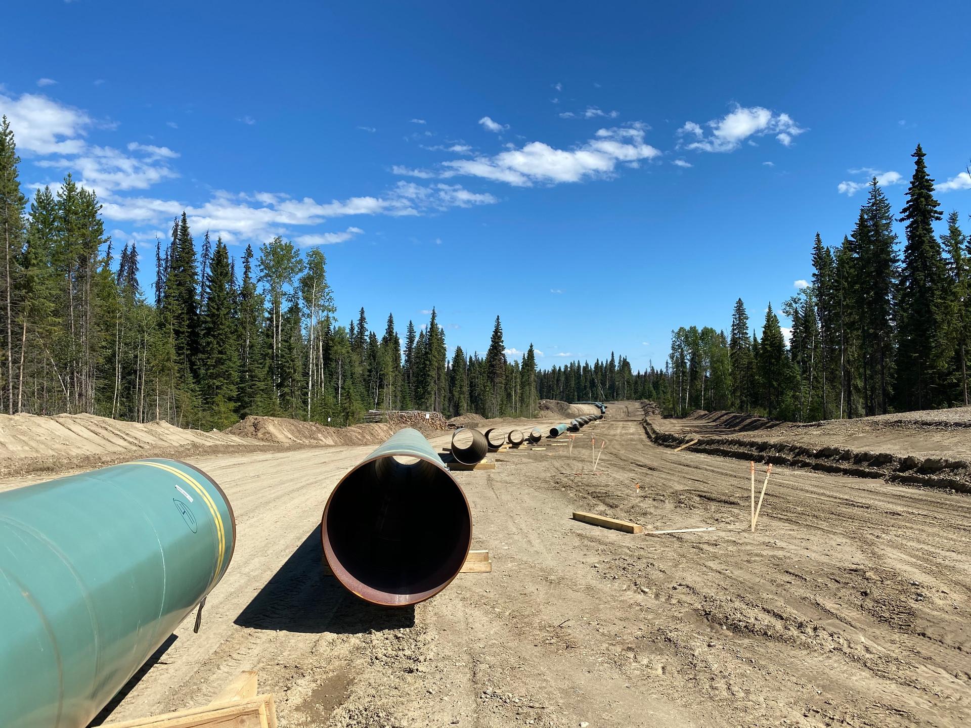 Global Raymac pipeline survey team on site