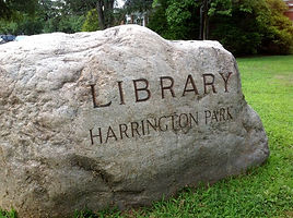Harrington Park Library Rock