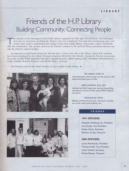 Friends of the H.P. Library Buildilng Community, Connecting People