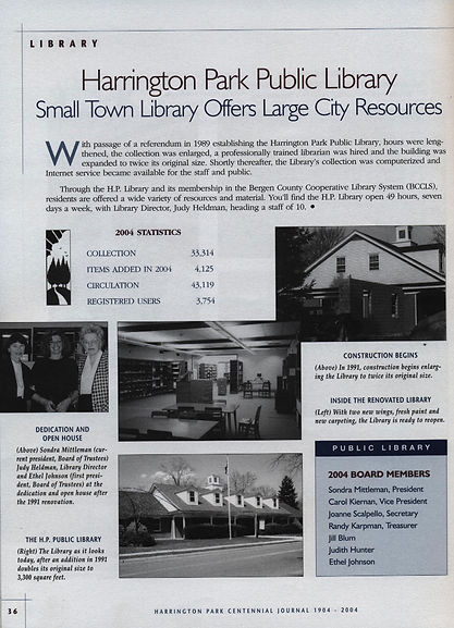 Harrington Park Public Library Small Town Library Offers Large City Resources