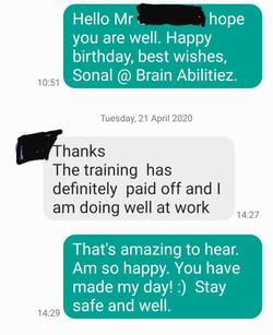 Testimonial by SMS 21April2020