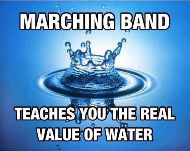 Marching band ... water