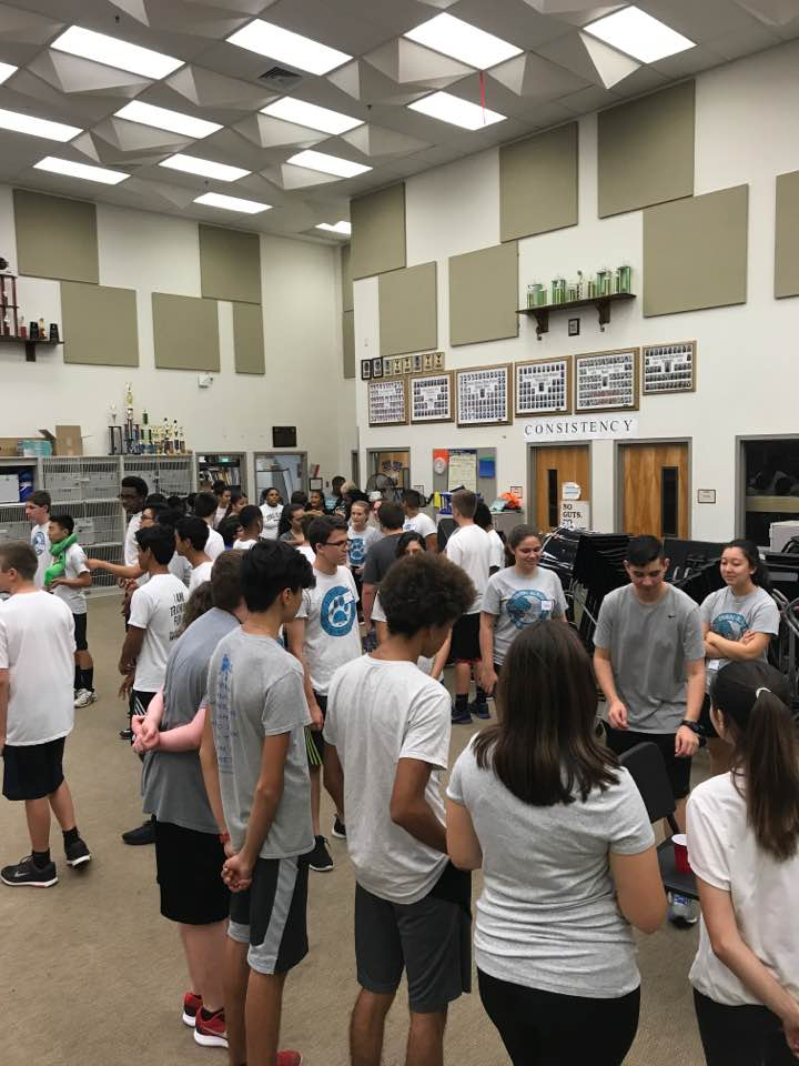 First day of band camp ... ice breakers 6.12.17