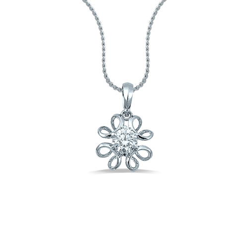 Delicate Filigree Floral Pendant