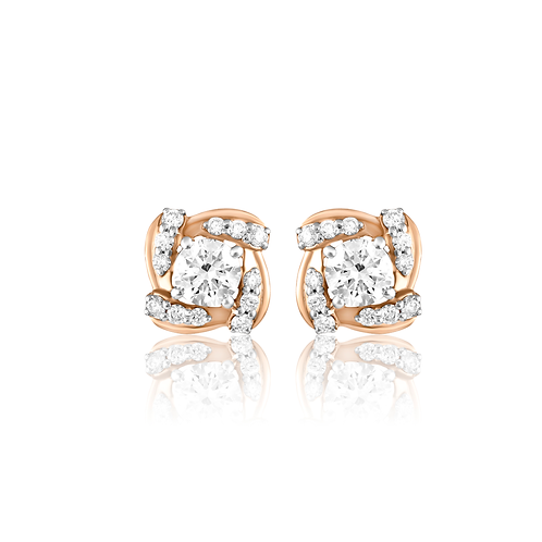 Gleam Curves Diamond Earrings