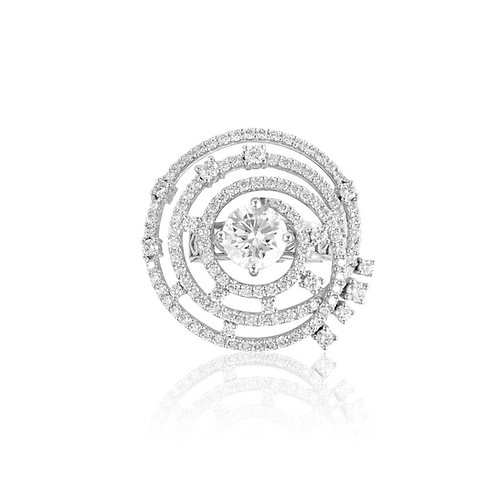 Star Cover Solitaire Ring