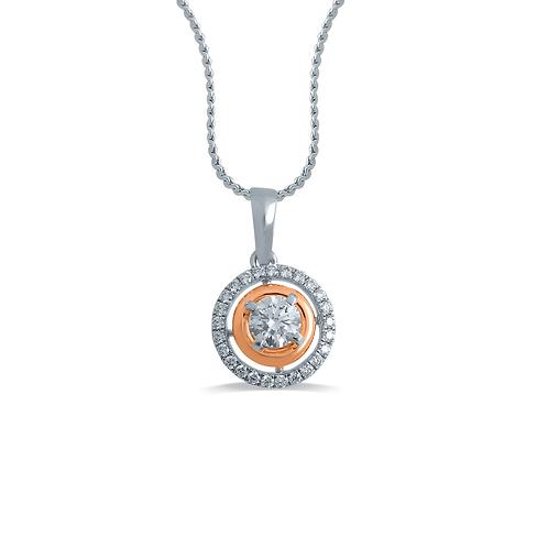 Halo Round Diamond Pendant