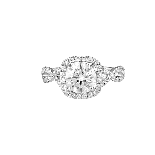 Twisted Rows Solitaire Ring