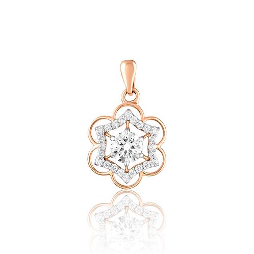 Shimmery Floret Pendant