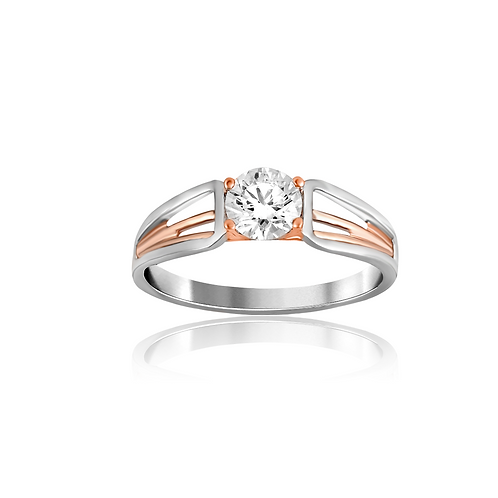 Lyra Braided Solitaire Ring