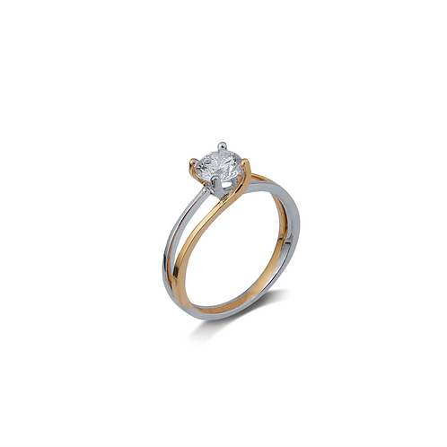 Entwined Soul Solitaire Ring
