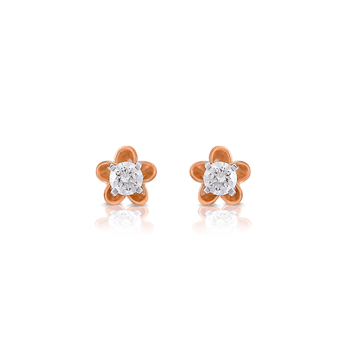 Blushing Bromeliad Diamond Earrings