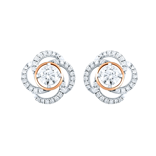 Stunning Swirl Diamond Earrings