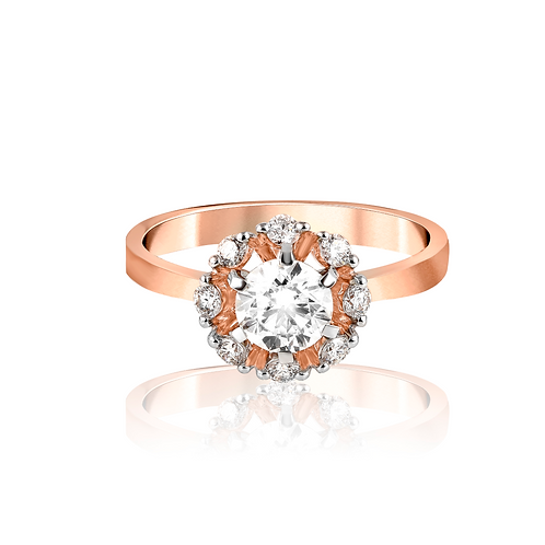 Bejeweled Snowflakes Ring