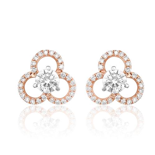 Classic Diamond Flora Earrings