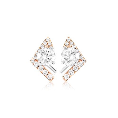 Princess Solitaire Stud Earring