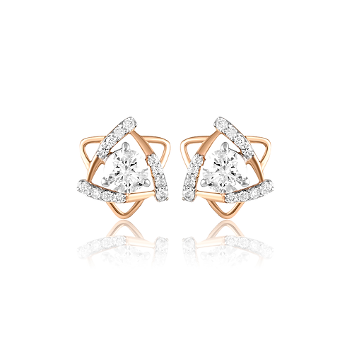 Trinity Solitaire Earrings