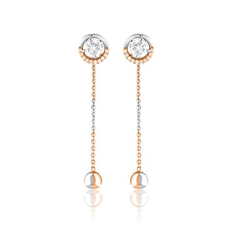 Krystal Pave Long Detachable Earrings