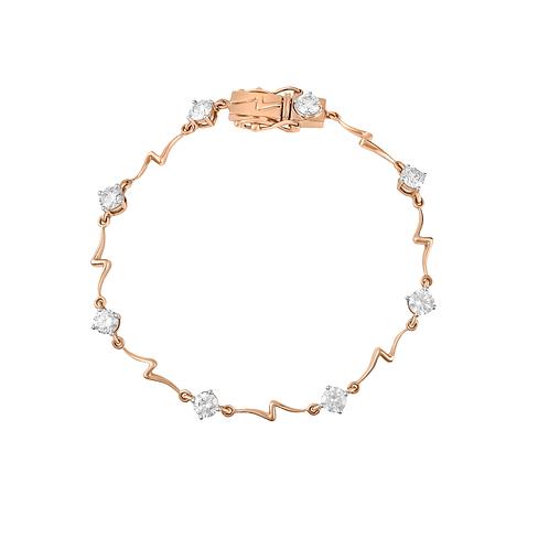 Smitten Wave Diamond Bracelet