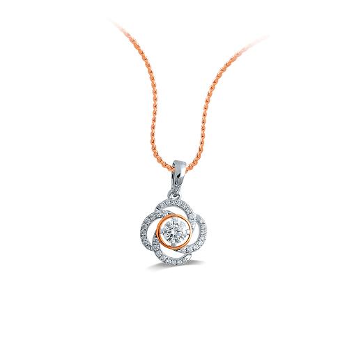 Stunning Swirl Diamond Pendant