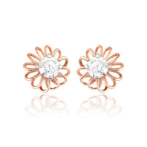 Fusion Flower Diamond Earrings