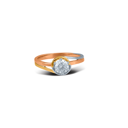 Curvy Star Solo Solitaire Ring