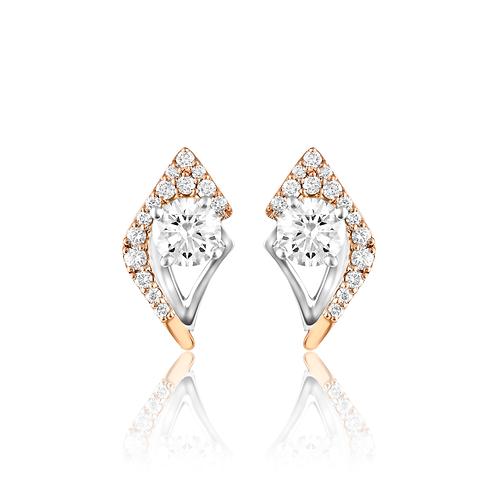 Geometric Sparkling Earrings