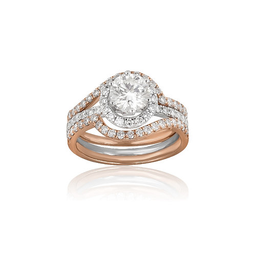 Elegant Triple Band Solitaire Ring