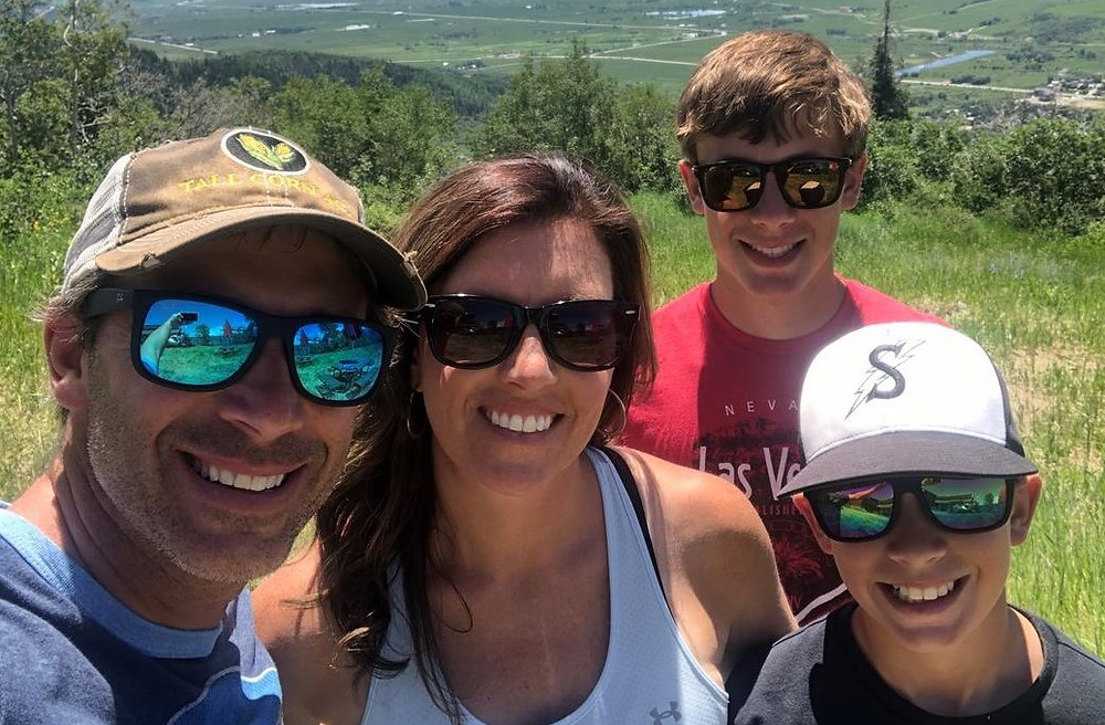 The Zwickels -- Zac and Amy on the left, Zayne behind and Seth to the right, while on a recent family vacation in Colorado.