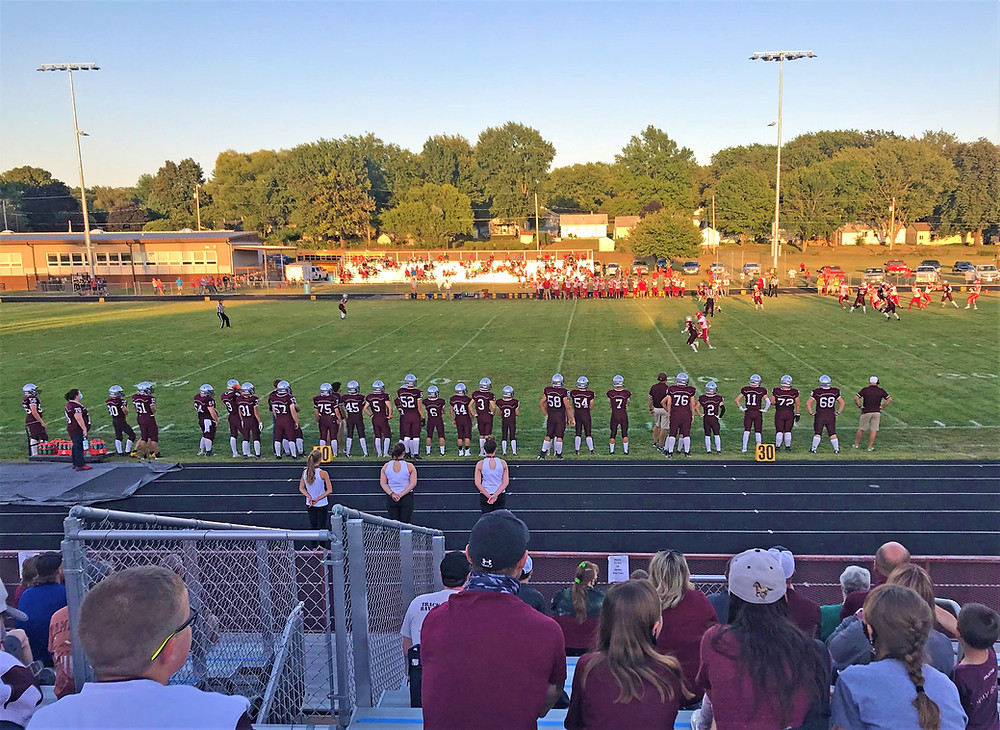The Mustangs beat Sidney 28-20 in the first home game of the football season on Sept. 4