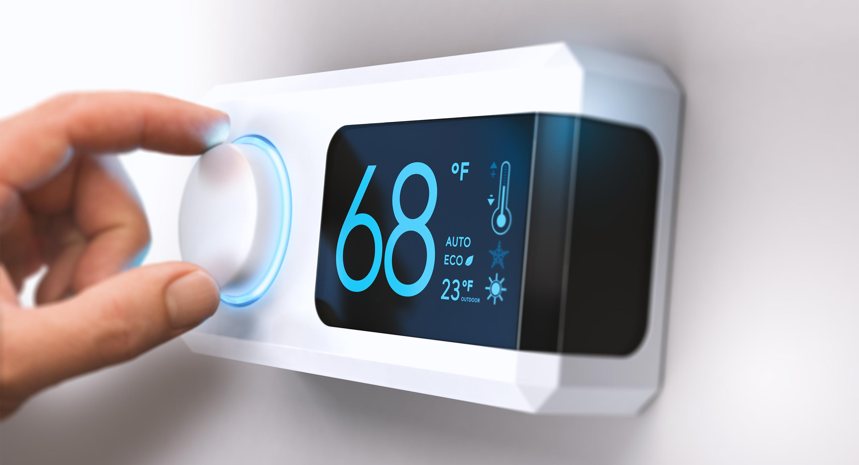 Thermostat set to 68*