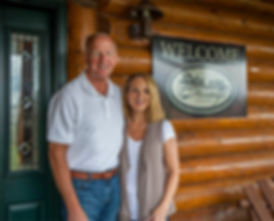 Heritage Lodge owners Pete and Teresa Peterson