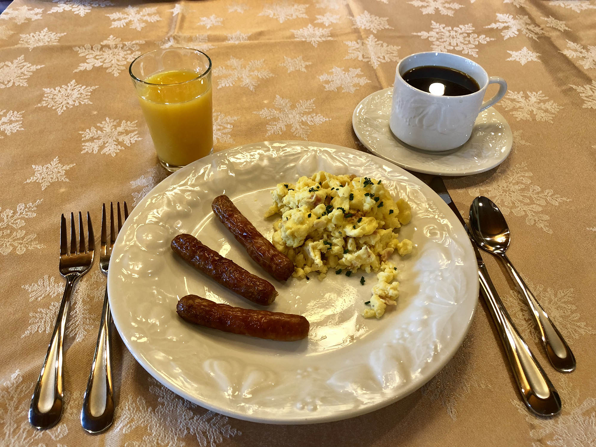 Scrambled Eggs & Sausage